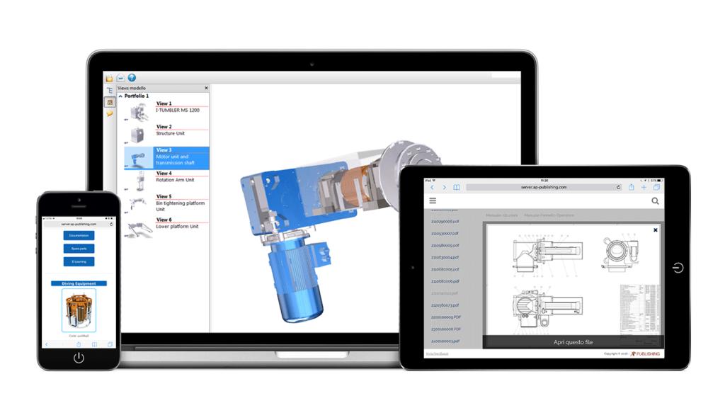 Visualizza i modelli 3D su tablet